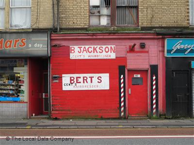 "Bert""s Gents Hairdresser Liverpool"